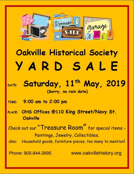 Awesome Yard Sale Oakville Historical Society Pabps2019 Chair Design Images Pabps2019Com