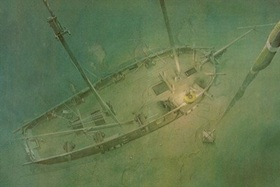 the Hamilton Scourge sunken ship
