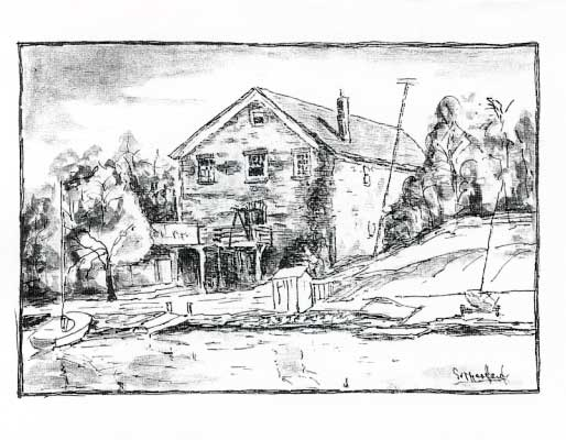 Oakville Granary 1858 Card