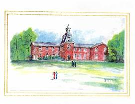 Oakville Central School 1856 Card