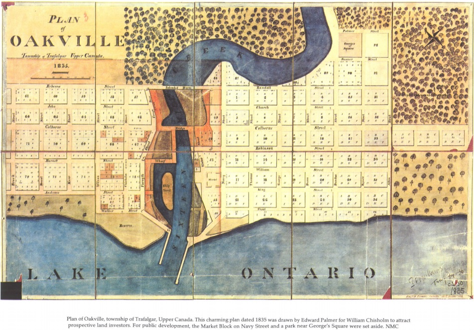 Plan of Oakville 1835