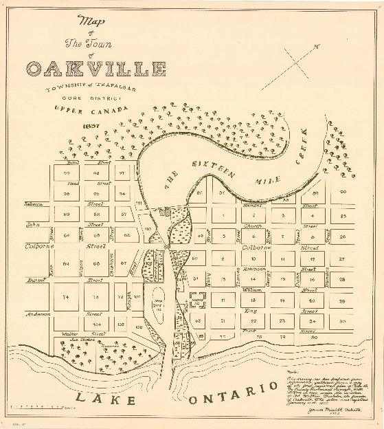 Oakville 1837 Map