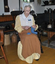 Knitter in Thomas House, Historic